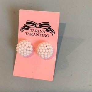 NWT Tarina Tarantino White Earrings
